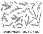 christmas silhouettes of fir...   Shutterstock .eps vector #1875176107