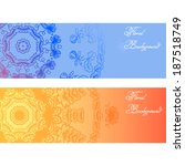 floral decorative headers.... | Shutterstock .eps vector #187518749