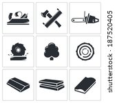 woodworking icons set | Shutterstock .eps vector #187520405