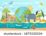 biodiversity as natural... | Shutterstock .eps vector #1875220234