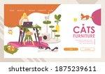 cats furniture vector landing...   Shutterstock .eps vector #1875239611