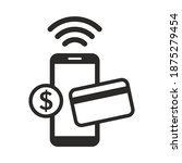 mobile payment icon. online... | Shutterstock .eps vector #1875279454