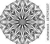 mandalas for coloring book.... | Shutterstock .eps vector #1875292237