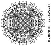 mandalas for coloring book.... | Shutterstock .eps vector #1875292264