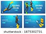 scuba diving concept banners...   Shutterstock .eps vector #1875302731