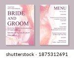 modern abstract luxury wedding...   Shutterstock .eps vector #1875312691