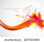 abstract grunge wavy background | Shutterstock .eps vector #187533485