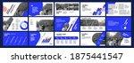 vector presentation templates.... | Shutterstock .eps vector #1875441547