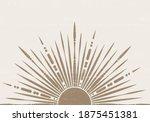 abstract sun print boho... | Shutterstock .eps vector #1875451381