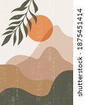 mid century sunset print boho... | Shutterstock .eps vector #1875451414