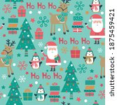 seamless christmas pattern with ... | Shutterstock .eps vector #1875459421