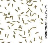 cumin seeds seamless pattern  | Shutterstock .eps vector #187549691
