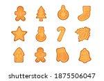 gingerbread cookies vector... | Shutterstock .eps vector #1875506047