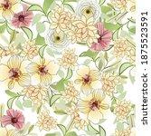 flower print. elegance seamless ...   Shutterstock .eps vector #1875523591