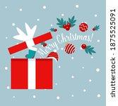 open gift box full of... | Shutterstock .eps vector #1875525091