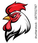 angry rooster mascot  team... | Shutterstock .eps vector #187552787