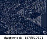 architectural wireframe bim... | Shutterstock .eps vector #1875530821