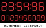 red digital clock number set....   Shutterstock .eps vector #1875540604