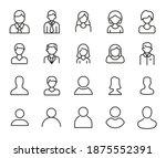 premium set of user line icons. ...   Shutterstock .eps vector #1875552391