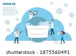 doctors team with covid 19...   Shutterstock .eps vector #1875560491