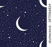 night sky seamless pattern on a ...   Shutterstock .eps vector #1875566824
