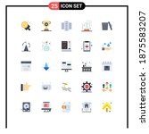 mobile interface flat color set ...   Shutterstock .eps vector #1875583207