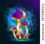 mushrooms. magic mushrooms in a ...   Shutterstock .eps vector #1875585211