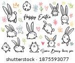 cartoon doodle line happy... | Shutterstock .eps vector #1875593077