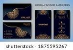mandala business card design... | Shutterstock .eps vector #1875595267