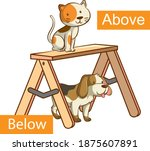opposite words with above and... | Shutterstock .eps vector #1875607891