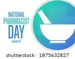 national pharmacist day.... | Shutterstock .eps vector #1875632827
