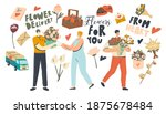flowers delivery service.... | Shutterstock .eps vector #1875678484