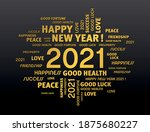gold greeting words around new... | Shutterstock .eps vector #1875680227