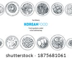 korean food top view... | Shutterstock .eps vector #1875681061