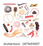 hairdressers fashionable ... | Shutterstock .eps vector #1875693007