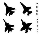 fighter jet icon vector set....   Shutterstock .eps vector #1875715714