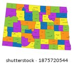 colorful north dakota political ... | Shutterstock .eps vector #1875720544