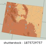 highly detailed wyoming... | Shutterstock .eps vector #1875729757