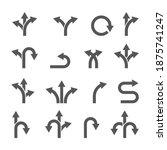 way direction arrow sign vector ... | Shutterstock .eps vector #1875741247