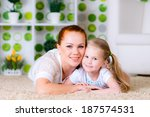 happy family of mother and... | Shutterstock . vector #187574531