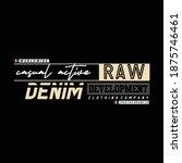 raw denim fashion stylish... | Shutterstock .eps vector #1875746461