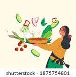 woman cartoon character... | Shutterstock .eps vector #1875754801