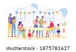 grannys birthday celebration...   Shutterstock .eps vector #1875781627