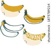 banana exotic fruit modern flat ...   Shutterstock .eps vector #1875789214