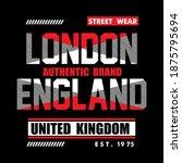 london england   typography...   Shutterstock .eps vector #1875795694