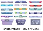 scoreboard icons set. cartoon... | Shutterstock .eps vector #1875799351