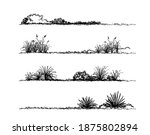 grass sketch landscape and... | Shutterstock .eps vector #1875802894