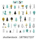 winter trees in the snow.... | Shutterstock .eps vector #1875817237