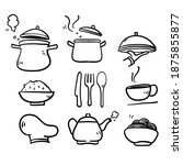 hand drawn doodle cooking icon... | Shutterstock .eps vector #1875855877