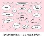 illustration of spring speech... | Shutterstock .eps vector #1875855904